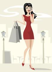 beauty girl shopping