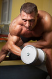 Biceps shot of a strong man