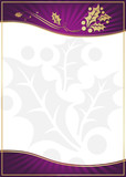 Exotic Purple Holly Adorned Gift Card or Label poster