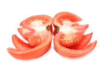 sliced tomato close