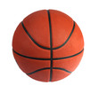 Brown basket-ball ball on the white background