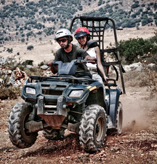 Having fun with sand buggy