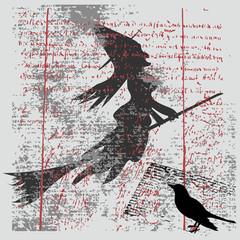 Witch Grunge Background