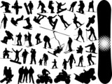 extreme sport silhouettes poster
