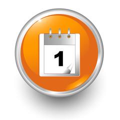 boton naranja calendario