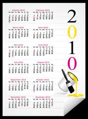American 2010 calendar arts
