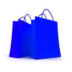 Pair of orange shopping bags
