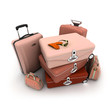 Elegant woman baggage