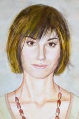 watercolor woman's portrait