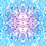 Psychedelic seamless goa trance abstract pattern in blue poster