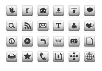 Clean web icons white.