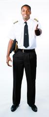 Full length photo of a pilot