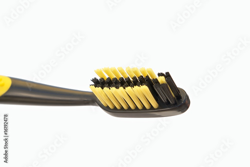 Black yellow toothbrush