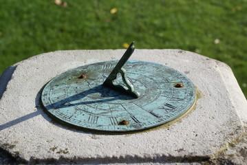 Sundial set in the formal garden