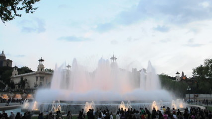 Font Magica - the Magic Fountain in Barcelona, Spain