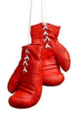 Boxing gloves on white background