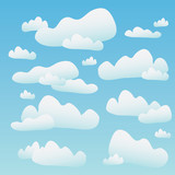 Fluffy Blue Clouds poster