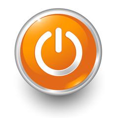 boton naranja encendido