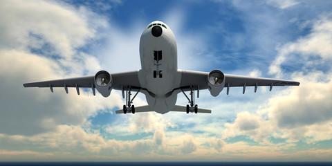 flugzeug im anflug