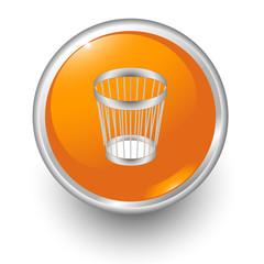 boton naranja papelera