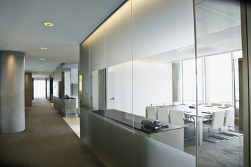 Empty conference room in modern office