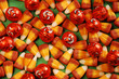Candy corn and pumpkins