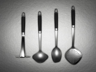 Assorted set of kitchen utensils