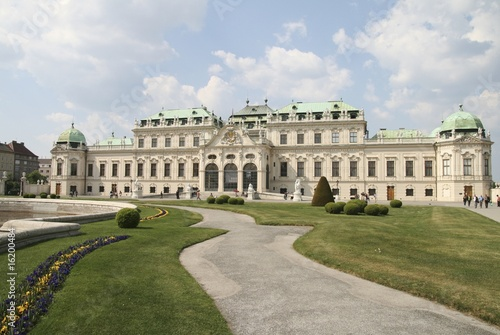 Vienna belvedere castle and nearby park