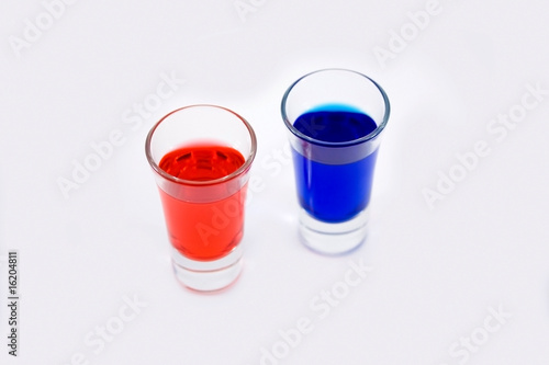 Police light shot glasses