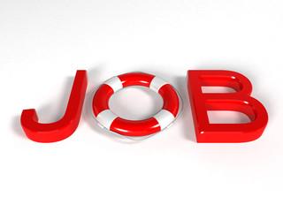 Job lifebuoy - 3d rendering