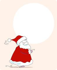 hurry, santa! greeting card
