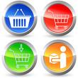 Shopping - Button-Set