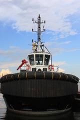 tug boat in harbor