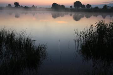 fishing time... fog on the lake