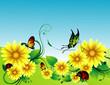 flower en vector