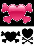 Heart with crossbones poster