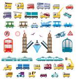 Vector transportation poster
