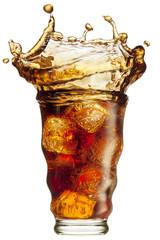 Cola splashing