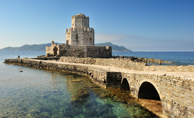 Watchtower of the medieval castle of Methoni, southern Greec