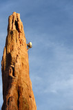 rock Climber Rappelling