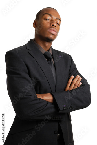 Confident business man with arms crossed