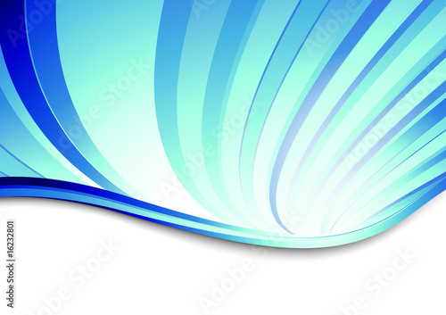 Blue abstract swirl on a banner. Vector illustration