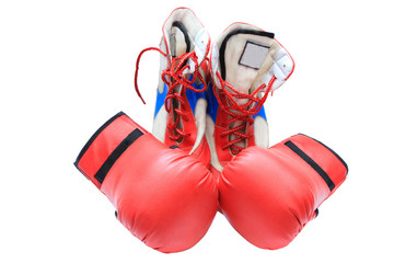boxing boots and gloves