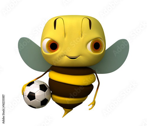 The bee with a ball