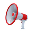 High Resolution bullhorn with clipping path