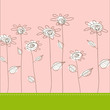 roleta: Illustration with simple flowers. Vector art