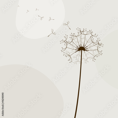 Abstract illustration with flowers. Vector art © pokki