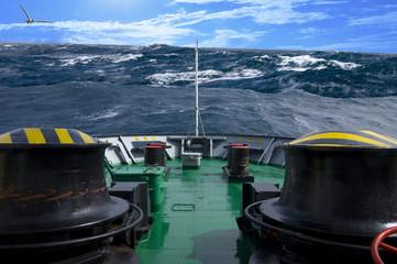 Storm in antarctic ocean
