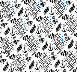 Retro Seamless Fish Pattern