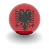 High resolution ball with flag of Albania poster